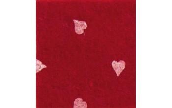 """Dirbtinis veltinis (filcas) """"Hearts"""" Dark Red/White, 30x40 cm"""