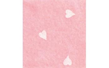 """Dirbtinis veltinis (filcas) """"Hearts"""" Baby Pink/White, 30x40 cm"""
