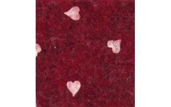 """Dirbtinis veltinis (filcas) """"Hearts"""" Red melange/White, 30x40 cm"""