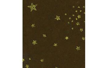 """Dirbtinis veltinis (filcas) """"Glitter Stars"""" Dark Brown, 30x40 cm"""
