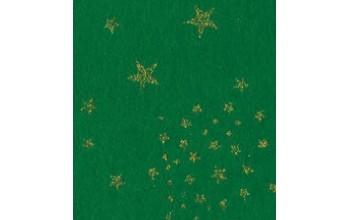 """Dirbtinis veltinis (filcas) """"Glitter Stars"""" Green, 30x40 cm"""