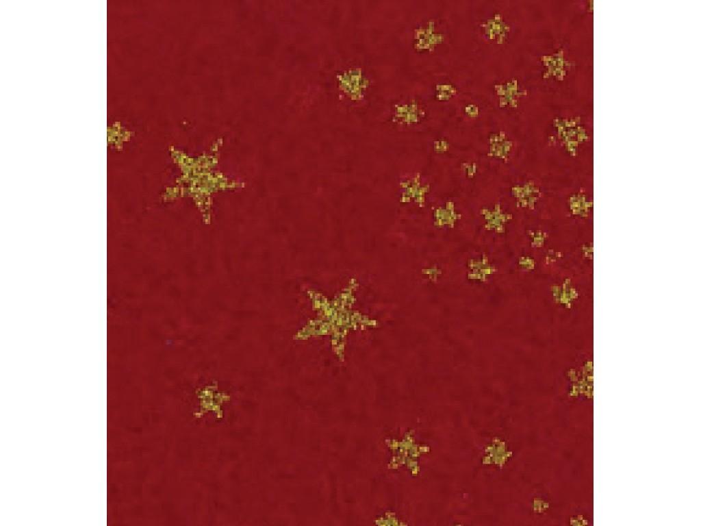 """Dirbtinis veltinis (filcas) """"Glitter Stars"""" Dark Red, 30x40 cm"""
