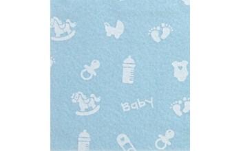"Dirbtinis veltinis (filcas) ""Baby Small"" Light Blue/White, 30x40 cm"