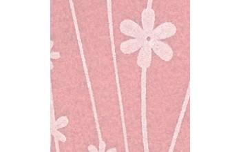 "Dirbtinis veltinis (filcas) ""Flowers"" Pink Pastel/Cream, 30x40 cm"