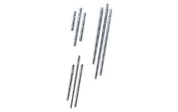 Metalinės lazdelės vėjo varpeliui 4/6/8 cm 3vnt, sidabro spalvos