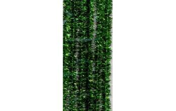 Lanksčios pūkuotos lazdelės, blizgios žalios spalvos, 6 vnt.