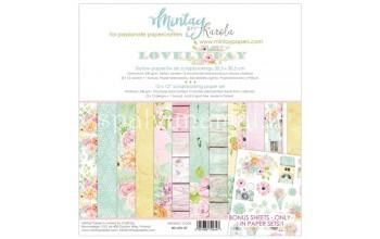 """Popieriaus rinkinys """"Lovely Day"""", 30,5x30,5cm, 12 lapų"""