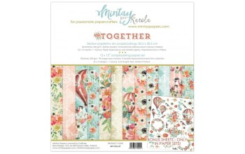"""Popieriaus rinkinys """"Together"""", 30,5x30,5cm, 12 lapų"""