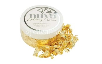 "Smulkinta folija ""Nuvo gilding flakes: Radiant Gold"", 200ml"