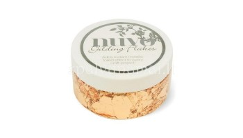 "Smulkinta folija ""Nuvo gilding flakes: Sunkissed copper"", 200ml"