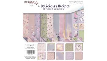 """Popieriaus rinkinys dvipusis """"Delicious Recipes"""" 30x30 cm, 10 lapų"""