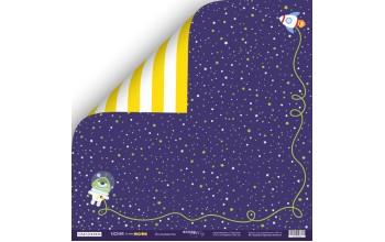 "Popierius dvipusis ""Ticket to the Moon: researcher"" 30,5x30,5 cm"