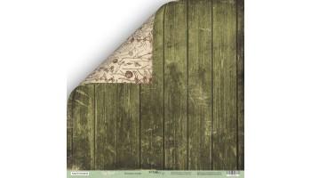 "Popierius dvipusis ""Cozy Forest: green boards"" 30,5x30,5 cm"
