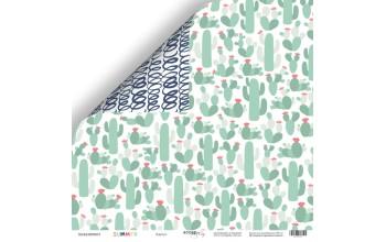 """Popierius dvipusis """"Summer: cactus"""" 30,5x30,5 cm"""