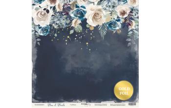 "Popierius vienpusis ""Blue & Blush: depth"" 30,5x30,5 cm"