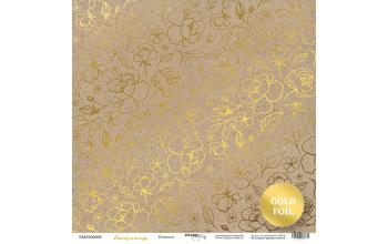 "Popierius vienpusis ""Tenderness: craft"" 30,5x30,5 cm"