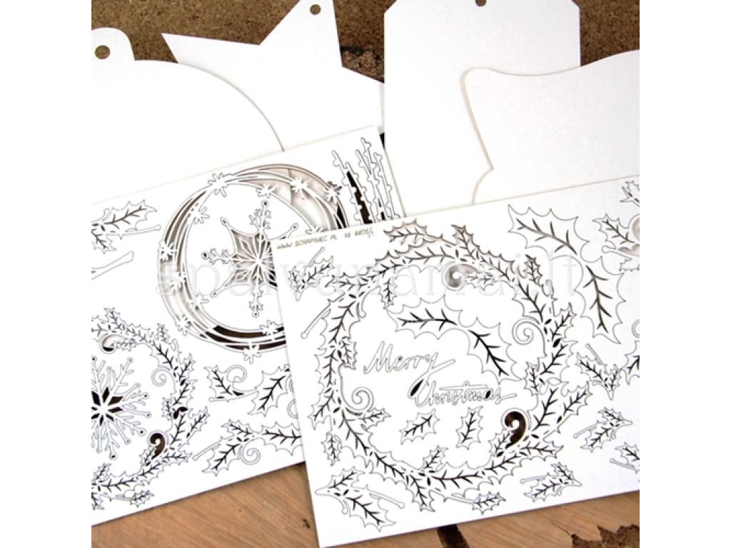 """Kartoninių formelių rinkinys """"Christmas cards 01"""""""
