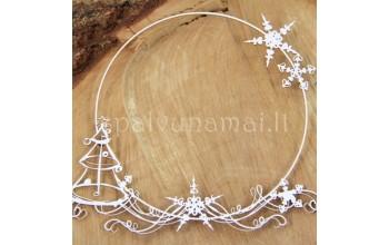 """Kartoninė formelė """"Christmas Sketch: rėmelis su eglute"""""""