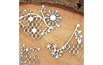 """Kartoninė formelė """"Cherish Christmas: ornamentai"""", 3vnt."""