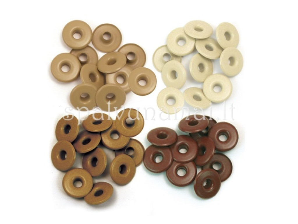 "Kniedės ""We R Memory Keeper wide eyelets brown"", 40vnt."