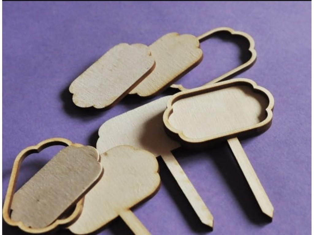 Medinė ovali formelė koteliu įsmeigti, 1 vnt