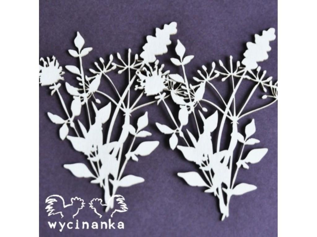 """Kartoninė formelė """"Flowers & Herbs 15"""", 4 vnt."""