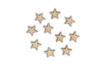 "Medinių formelių rinkinys ""Wooden stars"", 10vnt."