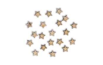 "Medinių formelių rinkinys ""Little stars made from wood"", 20vnt."