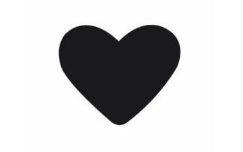"Dek. skylamušis ""Heart 1 25x20mm"""