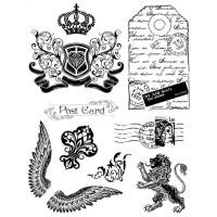"""Akriliniai antspaudukai """"Crown, Lion Wings"""""""