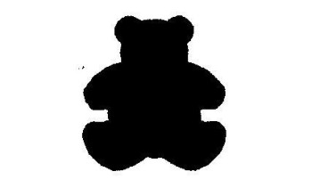 """Dek. skylamušis """"Bear 22x25mm"""""""