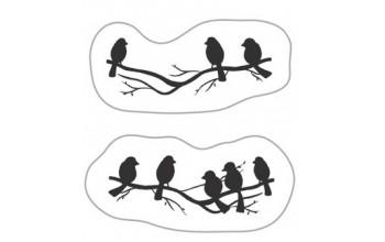 """Akriliniai antspaudukai """"Birds On Branch"""""""