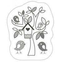 """Akriliniai antspaudukai """"Fantasy Tree With Birds"""""""