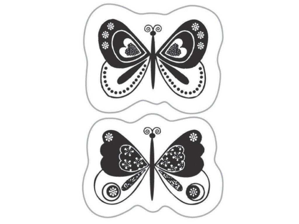 "Akriliniai antspaudukai ""Fantasy Butterflies"""