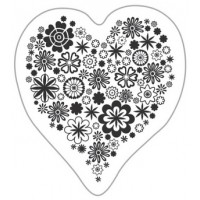 """Akriliniai antspaudukai """"Heart Of Flowers"""""""