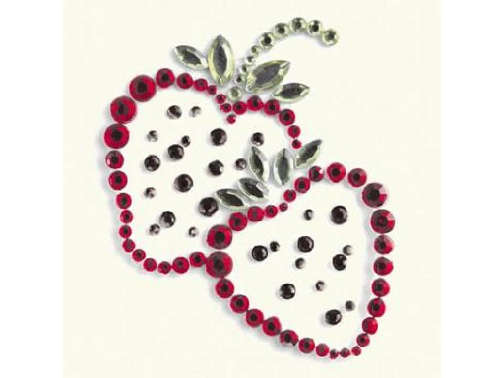 """Priklijuojami kristalai """"Strawberry red"""""""