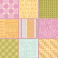 "Kalkinis popierius ""K&Company: 9 Stitched Squares Embossed Vellum"""