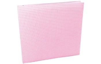 """Albumas aptrauktas audiniu """"Pink Squares"""" 30,5x30,5cm"""