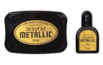 "Rašalas ""StazOn Metallic Gold"""