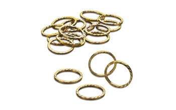 "Metalinė dekoracija ""Miniature Wedding Rings Gold"", 24vnt."