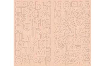 """Kartoniniai alfabeto lipdukai """"Noteworthy Addie"""""""