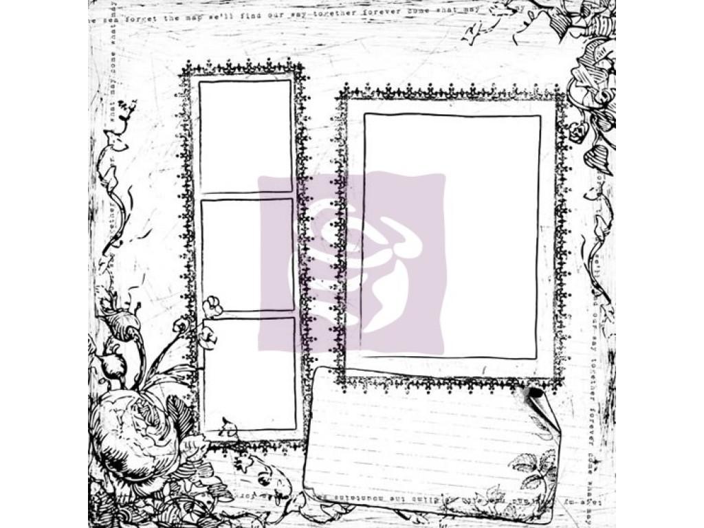 "Akvarelinis popierius ""Prima: White Paintables Flowers And Frames"""