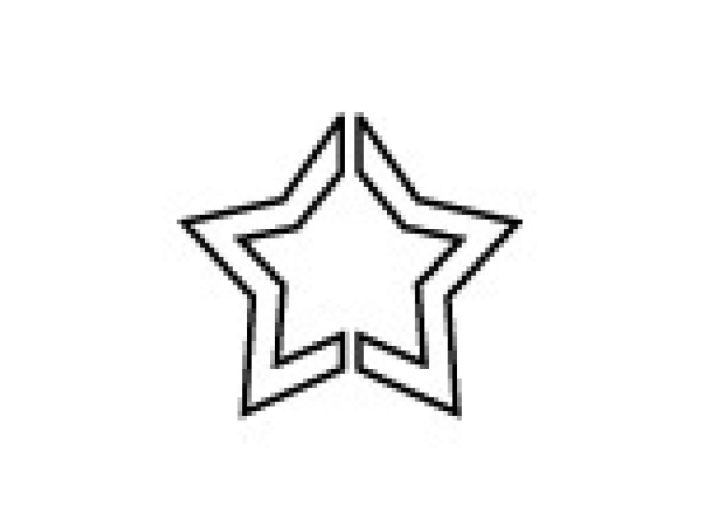 "Dek. skylamušis ""Pop Up Star 25x23mm"""