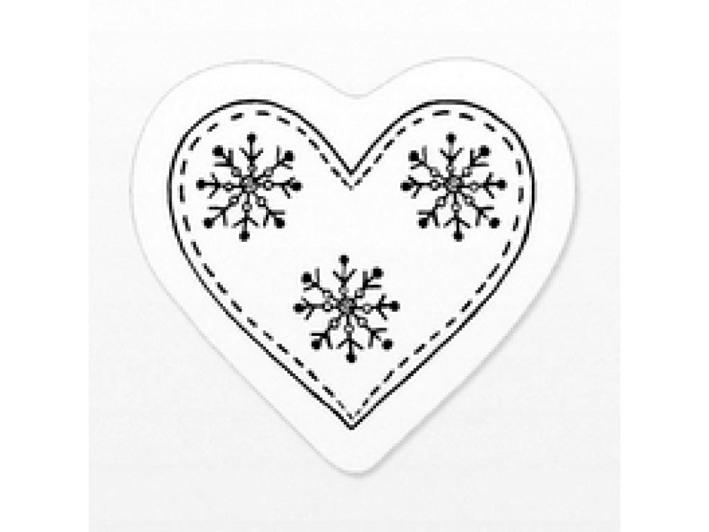 """Akriliniai antspaudukai """"Heart And Snow Crystal"""""""