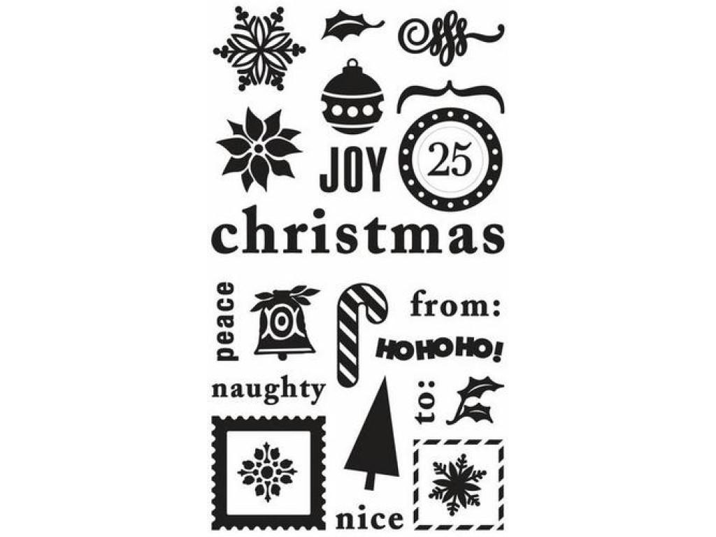 """Kempininiai antspaudukai """"Christmas"""", 24vnt."""