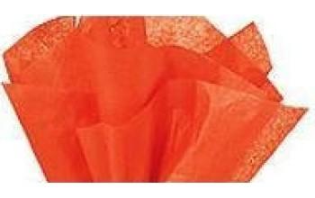 """Tissue šilko popierius """"Oranžinė"""", 5vnt."""