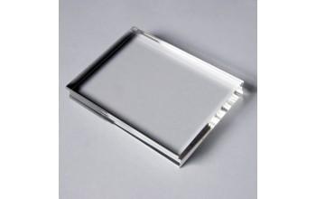 Akrilinis pagrindas antspaudukams tvirtinti, 7x4cm
