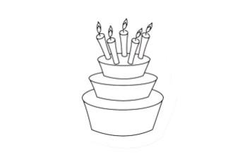 """Akriliniai antspaudukai """"Birthday Cake"""""""