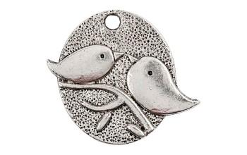 """Metalinis pakabukas """"Birds Kiss"""""""