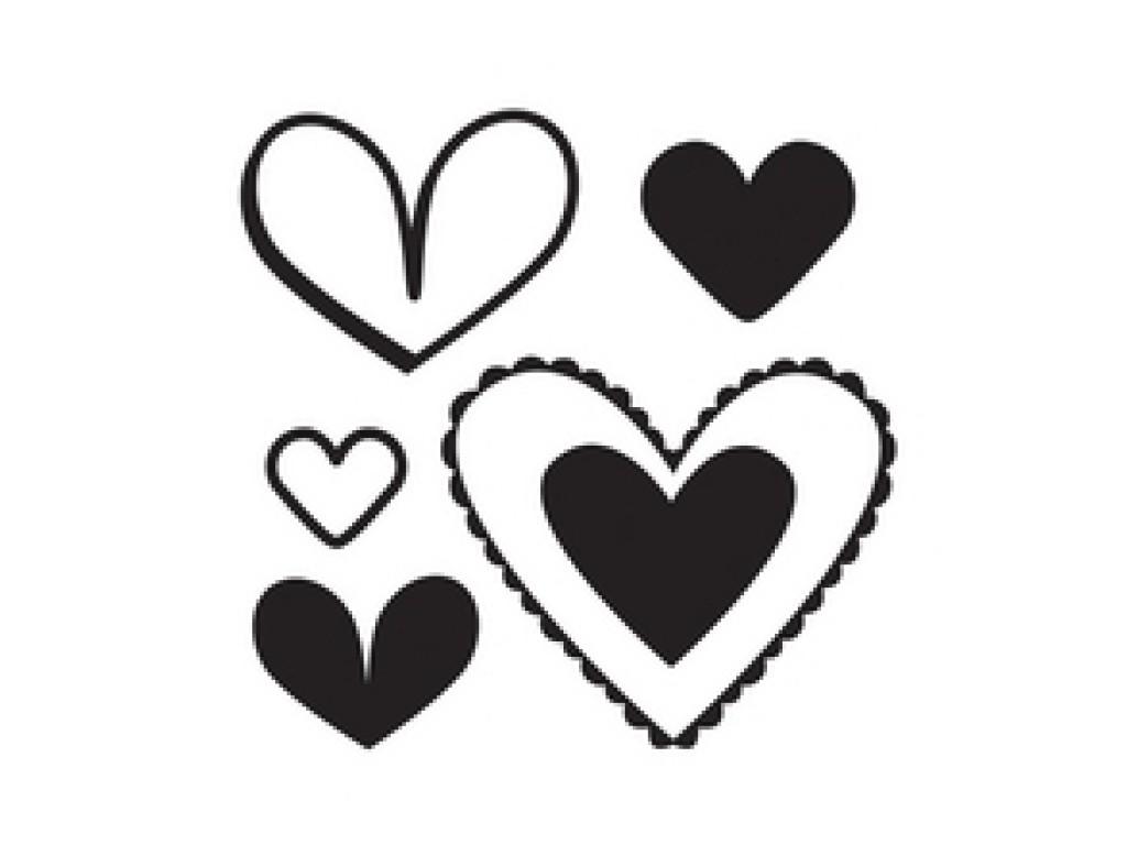 """Akriliniai antspaudukai """"Love Struck - Hearts"""""""